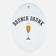 Brunch Drunk Oval Ornament
