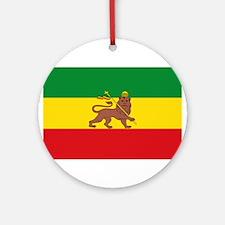 Ethiopia Flag Lion of Judah Rasta Reggae Round Orn