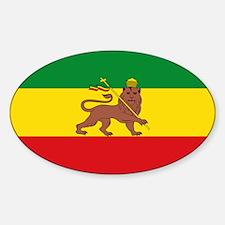 Ethiopia Flag Lion of Judah Rasta Reggae Decal