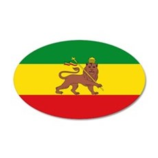 Ethiopia Flag Lion of Judah Rasta Reggae Wall Deca