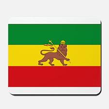 Ethiopia Flag Lion of Judah Rasta Reggae Mousepad