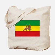 Ethiopia Flag Lion of Judah Rasta Reggae Tote Bag