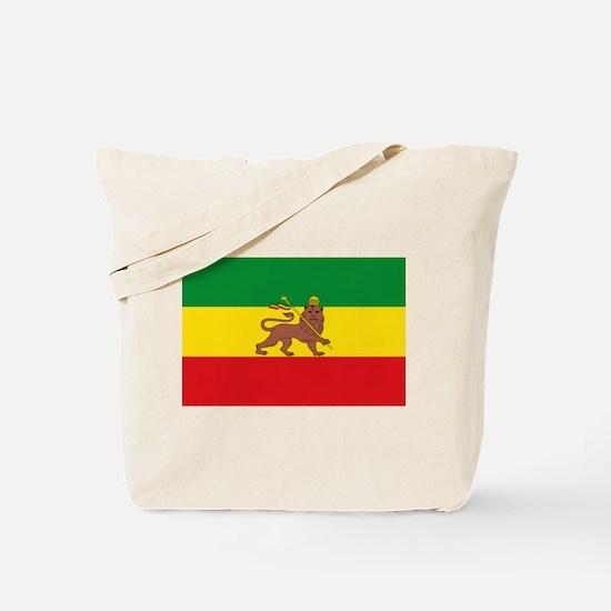 Ethiopia Flag Lion of Judah Rasta Reggae Tote Bag