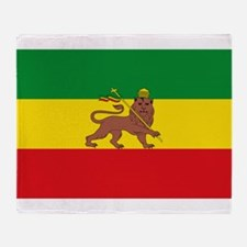 Ethiopia Flag Lion of Judah Rasta Reggae Throw Bla