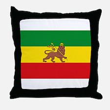 Ethiopia Flag Lion of Judah Rasta Reggae Throw Pil