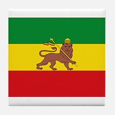 Ethiopia Flag Lion of Judah Rasta Reggae Tile Coas