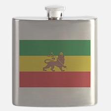 Ethiopia Flag Lion of Judah Rasta Reggae Flask