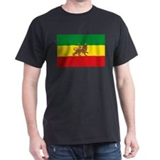 Ethiopia Flag Lion of Judah Rasta Reggae T-Shirt
