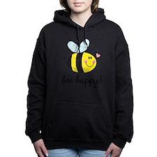 Bee Happy Women's Hooded Sweatshirt