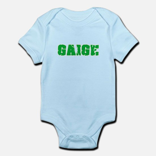 Gaige Name Weathered Green Design Body Suit