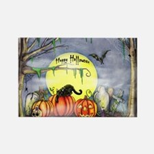 Funny Pumpkin Rectangle Magnet