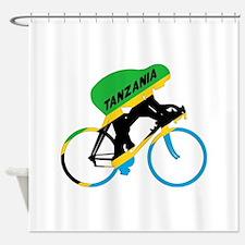 Tanzania Cycling Shower Curtain