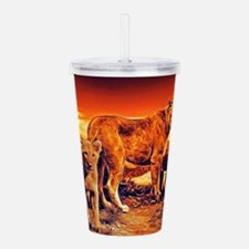 Lion Family Acrylic Double-wall Tumbler