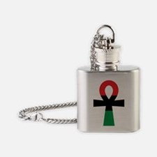 Red, Black & Green Ankh Flask Necklace