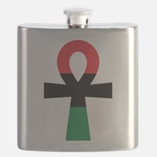 Red, Black & Green Ankh Flask