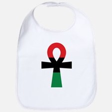 Red, Black & Green Ankh Bib