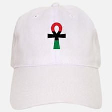 Red, Black & Green Ankh Baseball Baseball Cap