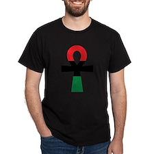 Red, Black & Green Ankh T-Shirt