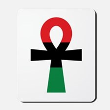Red, Black & Green Ankh Mousepad