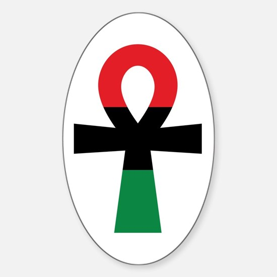 Red, Black & Green Ankh Decal