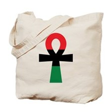 Red, Black & Green Ankh Tote Bag