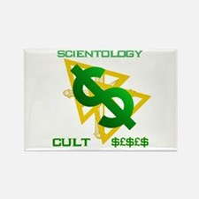 Scientology Cult Dollar Rectangle Magnet Magnets