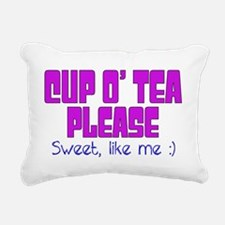 Cup o Tea Sweet Like me Rectangular Canvas Pillow