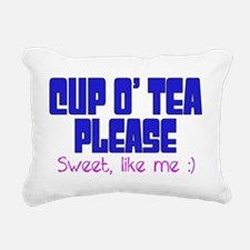 Cup o Tea Sweet Like me Rectangular Canvas Pillow