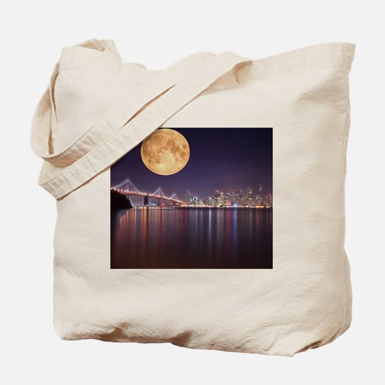 San Francisco Full Moon Tote Bag