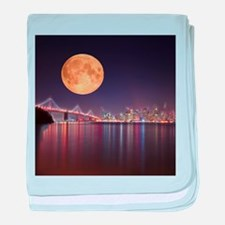 San Francisco Full Moon baby blanket