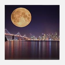 San Francisco Full Moon Tile Coaster