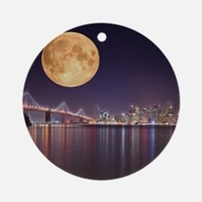 San Francisco Full Moon Round Ornament