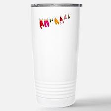 Winter clothesline craf Travel Mug