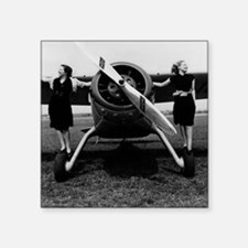 "Fly girls Square Sticker 3"" x 3"""
