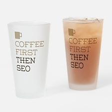 Coffee Then SEO Drinking Glass