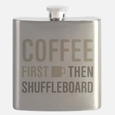 Coffee Then Shuffleboard Flask