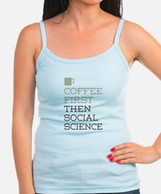 Coffee Then Social Science Tank Top