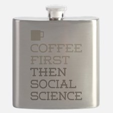 Coffee Then Social Science Flask
