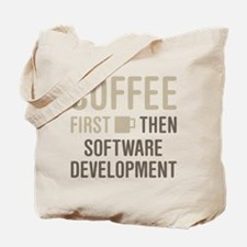Coffee Then Software Development Tote Bag