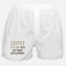 Coffee Then Software Development Boxer Shorts