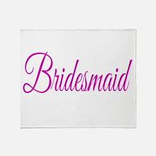 Bridesmaid Throw Blanket