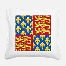 Royal Arms of England and Fra Square Canvas Pillow