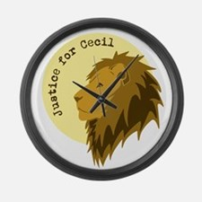 Justice for Cecil Large Wall Clock