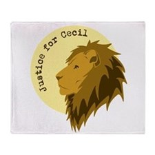 Justice for Cecil Throw Blanket