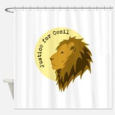 Justice for Cecil Shower Curtain