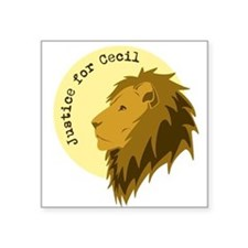 """Justice for Cecil Square Sticker 3"""" x 3"""""""