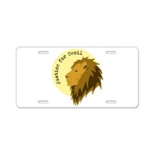 Justice for Cecil Aluminum License Plate