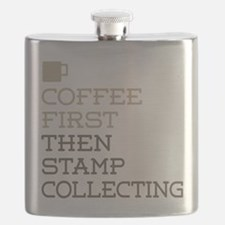 Coffee Then Stamp Collecting Flask