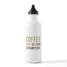Coffee Then Steampunk Water Bottle