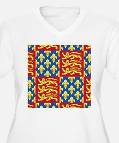 Royal Arms of England and France Plus Size T-Shirt
